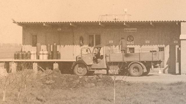 1971 Inbetriebnahme einer Flüssiggasabfüllanlage